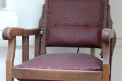 Vintage kappersstoel en droogkap , jaren 30