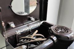 vintage bakkelieten fohn in koffer